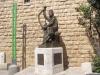 Иерусалим. Гора Сион. Статуя царя Давида у стены аббатства Успения