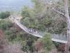 Парк Нешер. Туристы на подвесном мосту