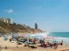 Нетания. Цветные дельтапланы над пляжем
