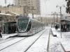 Иерусалим. Трамвай в снегу