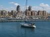 Ашдод. Частная яхта в искусственной бухте порта