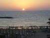 Израиль. Тель-авивский пляж. Закат
