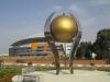 Нетания. Стадион. Скульптура золотой мяч